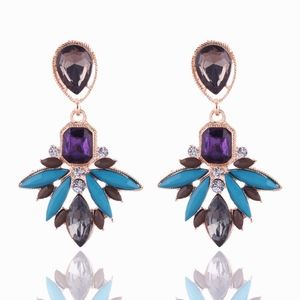 PREVIEW!! Crystal Gem Drop Statement Earrings
